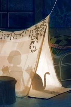 """Illustration by Erin Mcguire,""""Dream Fort""""."""