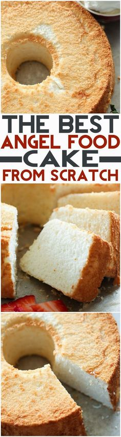 THE BEST Angel Food Cake from scratch!
