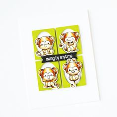 Stamps: Cheeky Monkey Thanks A Bunch, Clear Stamps, It's Your Birthday, Colored Pencils, Monkey, Cards, Gifts, Colouring Pencils, Monkeys