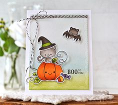 Boo To You Card by Amy Sheffer for Papertrey Ink (August 2016)