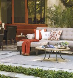 Tribeca - pure retro verve. Edgy tufted cushions. | Frontgate: Live Beautifully Outdoors