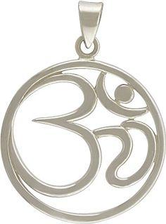 Sterling Silver Ohm Pendant #ninacharms #yogaspirit