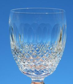 Set of 4 Waterford Crystal Colleen Short Stem Water Goblets 9 Ounce Glasses #Waterford