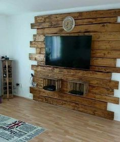For this post Wohnzimmer Ideen you browse. Wohnzimmer Ideen If you like our article by writing comments and sharing it on social media, we would be happy if you support us. Living Room Interior, Living Room Decor, Pallet Ideas For Living Room, Barn Wood Projects, Pallet Projects, Easy Projects, Diy Holz, Pallet Furniture, Pallet Walls