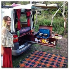 the best designs of vans for camping and adventure in the woods and snow - Camper Life Best Travel Trailers, Travel Trailer Camping, Truck Camping, Auto Camping, Minivan Camping, Camping Cabins, Mini Camper, Camper Life, T4 Camper