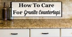 Granite countertops have become an increasingly popular choice for both kitchen and bathroom counters in recent years, and it is easy to see why. They look absolutely lovely. However, granite, as with...