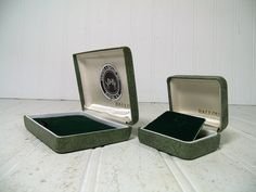 Antique SeaFoam Green Textured Pair of 2 Jewelry by DivineOrders