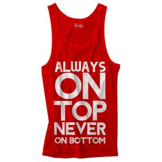 Always on Top red and white Mens tank