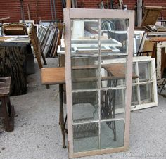 Found a few old windows from the former Bygone shop!! Great find!! (: