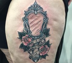 Antique Mirror Tattoo Sketch By Ranz Pinterest