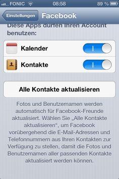 Warnung: #iOS6 #Facebook Adressbuch Synchronisation via @friesenecker