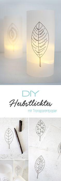 Dani vom DIY Blog Gingered Things zeigt euch wie ihr aus Transparentpapier ganz tolle und dekorative Herbstlichter basteln könnt. Ganz einfach und auch ein wunderschönes Geschenk zum selbst machen.