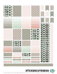 Free Printable Beautifull Weekly Planner Stickers from StickerCuteness