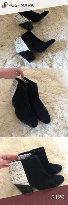 Dolce Vita Holland Booties Perfect condition dolce Vita Holland booties, never worn. So beautiful and unique, perfect with jeans, a skirt or dress. Size 9 1/2. Nortsums sale tag says $126 but original is $188 Dolce Vita Shoes Ankle Boots & Booties