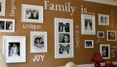 Familienfotos an die Wand bringen mit Wandtattoos als Botschaften