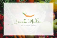 Healthy Food Logo by AgataCreate on @creativemarket More