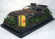1971 Hemi Barracuda Cuda M2 Machines Barn Find Weathered 1 24 Custom Diorama Model Cars