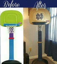 Notre dame basketball goal