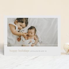 """""""the small things"""" - Foil-pressed Holiday Cards in Smoke by Seven Swans. Birthday Party Invitations, Wedding Invitations, Holiday Cards, Christmas Cards, Seven Swans, Personalized Stationery, Foil Stamping, Paper Goods, Photo Cards"""