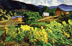 Robert Daughters (b. 1929), American - Mountain Pastoral