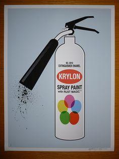 spray extintor!