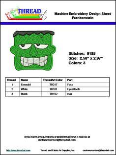 Halloween Frankenstein Embroidery Download