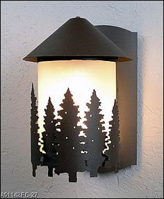 The Glowing Pines Whitetail Wall Sconce Will Create A Warm