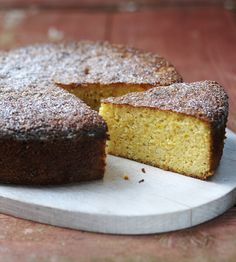 This orange and almond cake is deliciously moist and only contains a tiny amount of flour.