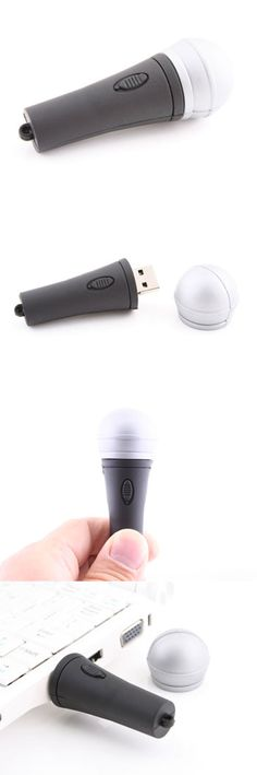 Microphone USB Flash Drive  http://www.usbgeek.com/products/microphone-usb-drive