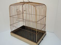 Vintage Bird Cage Metal Rusty Cottage Chic French by metrocottage, $44.50