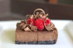 Get the Chocolate Cheesecake recipe from Lovely Little Kitchen