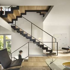 Split Level House: Location: Philadelphia, Pennsylvania, USA Year of Construction: 2014 Architects: QB Design  A house with modern influences woven into the traditional fabric and aesthetic of the neighborhood.