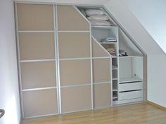 installing shelving in attic bedroom Closet Designs, Loft Closet, Staircase Storage, Loft Room, Ikea Inspiration, Studio Floor Plans, Shelving, Home Decor, Attic Rooms