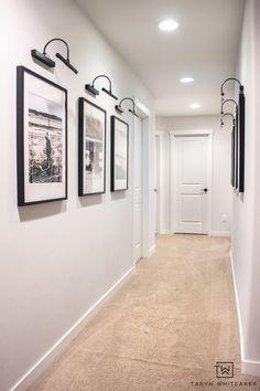 Black and White Hallway Gallery Wall - Taryn Whiteaker