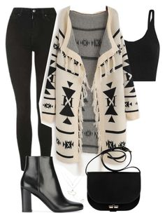 """Untitled #368"" by bellaxoxx on Polyvore featuring Topshop, TIBI, Yves Saint Laurent, A.P.C. and Casato"