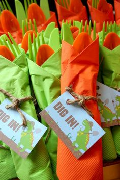 Dinosaur Thank You Tags, Thank You Tags, Dig In silverware tags, Dinosaur Birthday, Dinosaur … - Birthday Party 2 Dinasour Birthday, Dinosaur First Birthday, Fourth Birthday, 4th Birthday Parties, Birthday Fun, Birthday Ideas, Birthday Party Foods, Girl Birthday Party Themes, Elmo Party