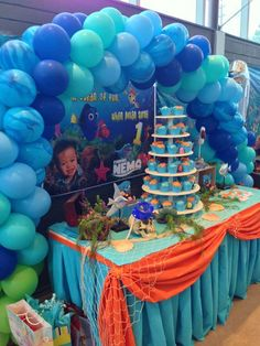 Finding Nemo theme Birthday Party Ideas | Photo 1 of 20 | Catch My Party