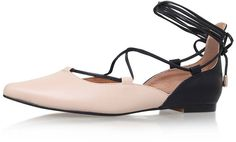 Womens shell pink larissa ballerina pumps by kg kurt geiger from Topshop - £89 at ClothingByColour.com