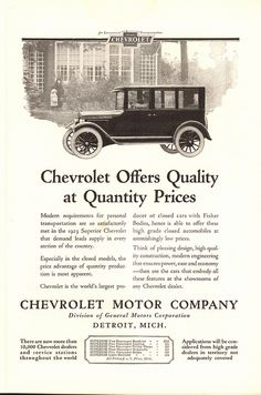 1923 Chevrolet Motor Company Advertisement National Geographic January 1923 | by SenseiAlan