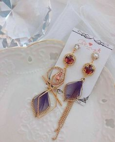 Kawaii Jewelry, Kawaii Accessories, Jewelry Accessories, Ear Jewelry, Cute Jewelry, Fashion Earrings, Fashion Jewelry, Fancy Jewellery, Magical Jewelry