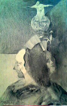 "Sleeping Jesus  1972  16"" x 12"""