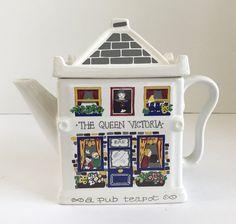 """Wade England English Life Teapots """"The Queen Victoria, a Pub Teapot"""""""