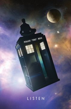 """Doctor Who """"Listen"""" by TheArtEye, 11X17 poster, donated by the artist"""