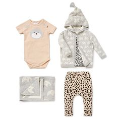 Simple shapes just got wilder. Jungle-themed prints and contrast trim onesies forever. #seedheritage