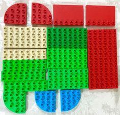 LEGO Duplo Lot 16 Building Plate Red 6 x 12 Round Corner 2 x 8, 4 x 8 studs edge #LEGO