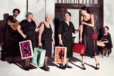 Dolce & Gabbana's Latest Ad Campaign Features Scene-Stealing Italian Grandmas #refinery29  http://www.refinery29.com/2014/12/79984/dolce-gabbana-grandmas#slide3  ...as well as a bunch of Italian nonnas (carrying some very intriguing, black-clad fashion dolls).