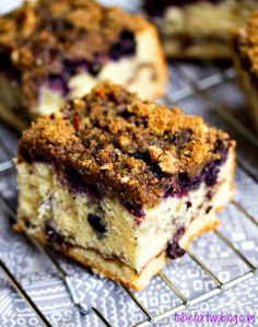 The perfect breakfast treat! Blueberry coffee cake is amazing!!