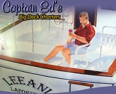 Captain Ed's Big Deck Charters in Michigan City, Indiana  My kids would love this since they think Captain Ed is the greatest!  Will have to see about getting a group together for this!