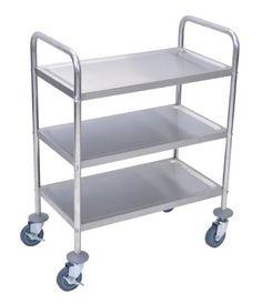 Luxor 3-Shelf Stainless Steel Cart