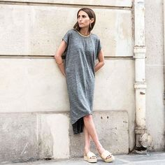 @louloudesaison wears the linen dress you'll want to live in this summer  #fine_paris #summer #newin #linendress #availableonline